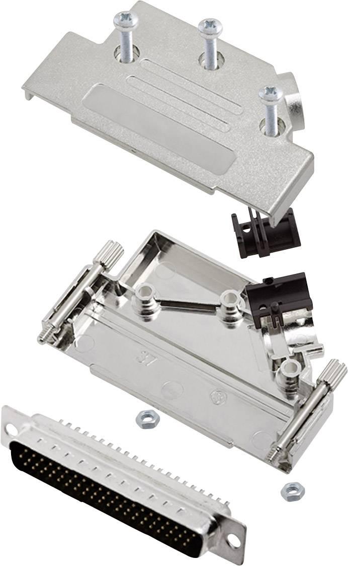 Sada D-SUB kolíkové lišty encitech D45PK-M-37-HDP62-K, 45 °, pólů 62, pájecí kalíšek, 1 sada