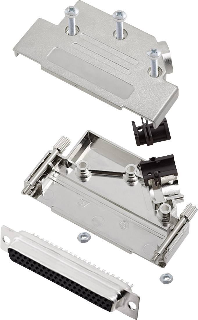 Sada D-SUB zásuvková lišta encitech D45PK-M-37-HDS62-K, 45 °, pólů 62, pájecí kalíšek, 1 sada