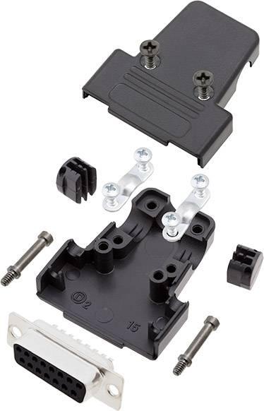 Sada D-SUB kolíkové lišty encitech TRI-M-09-DBP-K, 180 °, pólů 9, pájecí kalíšek, 1 sada
