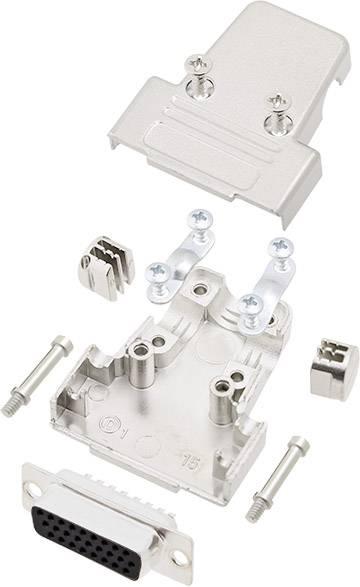 Sada D-SUB zásuvková lišta encitech TRI-M-09-HDS15-K, 180 °, pólů 15, pájecí kalíšek, 1 sada