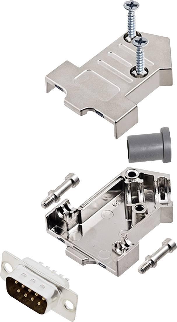 Sada D-SUB kolíkové lišty encitech D45NT09-M-DMP-K, 45 °, pólů 9, pájecí kalíšek, 1 sada