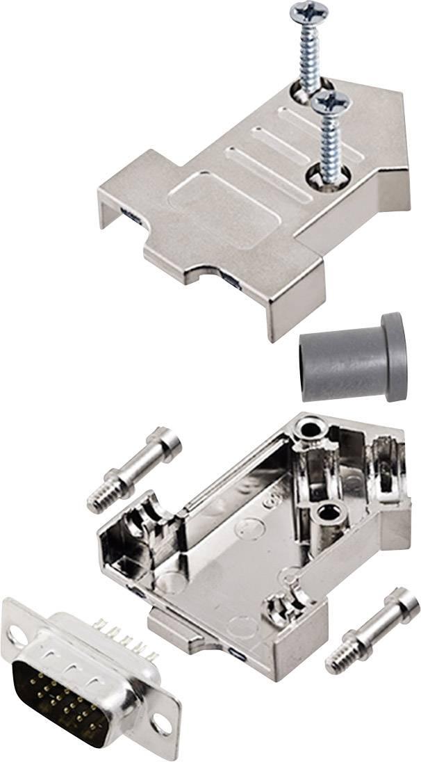 Sada D-SUB kolíkové lišty encitech D45NT09-M-HDP15-K, 45 °, pólů 15, pájecí kalíšek, 1 sada