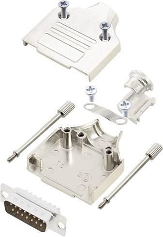 Sada D-SUB kolíkové lišty encitech MHDM-15-DMP-K, 180 °, pólů 15, pájecí kalíšek, 1 sada