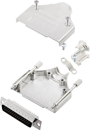 Sada D-SUB kolíkové lišty encitech MHDM-25-HDP44-K, 180 °, pólů 44, pájecí kalíšek, 1 sada