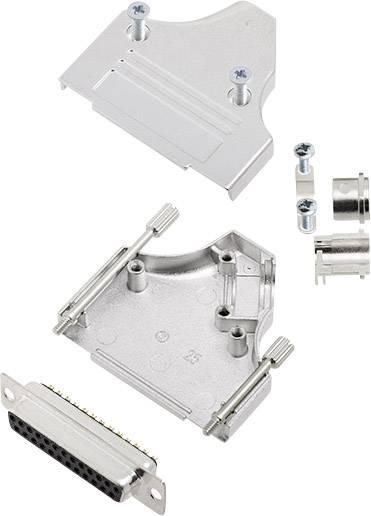 Sada D-SUB zásuvková lišta encitech MHDM35-25-DBS-K, 180 °, pólů 25, pájecí kalíšek, 1 sada