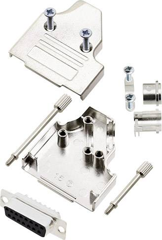Sada D-SUB zásuvková lišta encitech MHDM35-15-DMS-K, 180 °, pólů 15, pájecí kalíšek, 1 sada