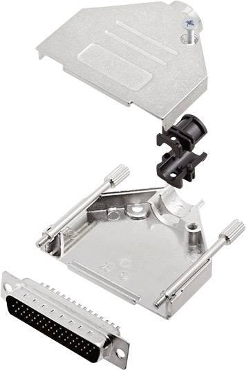 Sada D-SUB kolíkové lišty encitech DTZK25-HDP44-K, 180 °, pólů 44, pájecí kalíšek, 1 sada