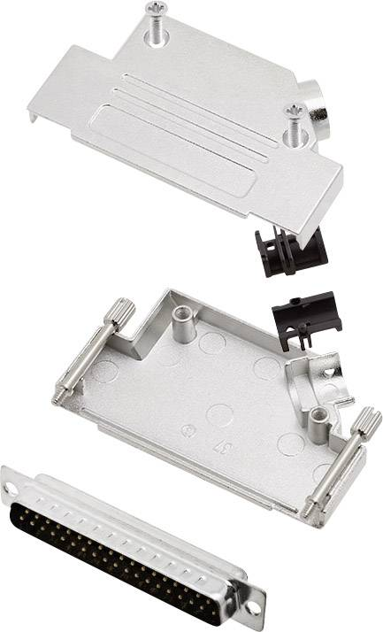 Sada D-SUB kolíkové lišty encitech D45ZK37-DMP-K, 45 °, pólů 37, pájecí kalíšek, 1 sada