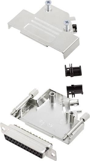 Sada D-SUB zásuvková lišta encitech D45ZK25-DMS-K, 45 °, pólů 25, pájecí kalíšek, 1 sada