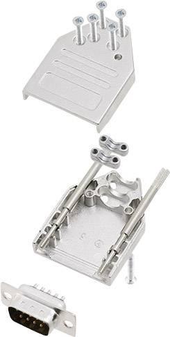 Sada D-SUB kolíkové lišty encitech DTZI09-DBP-K, 180 °, pólů 9, pájecí kalíšek, 1 sada