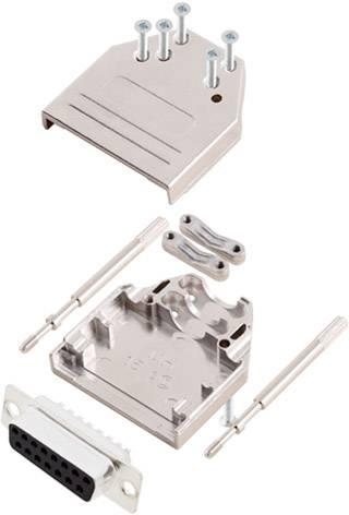 Sada D-SUB kolíkové lišty encitech DTZI15-DMP-K, 180 °, pólů 15, pájecí kalíšek, 1 sada