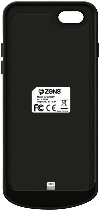 Bezdrátové nabíjecí pouzdro ZENS ZEI602B00 pro iPhone 6/6s Qi Case, 1550 mAh, černá