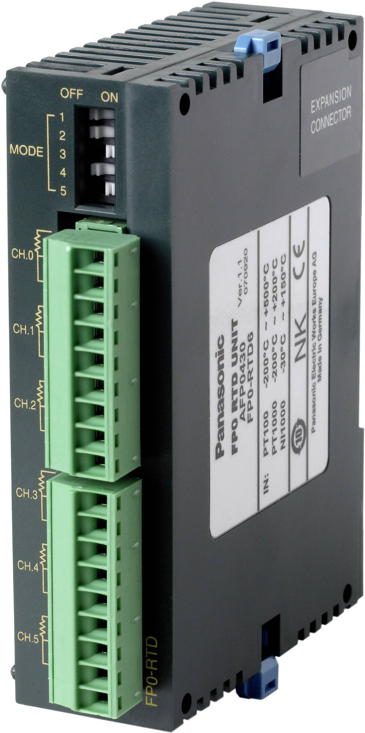 Rozšiřující modul pro PLC Panasonic FP0RTD6D