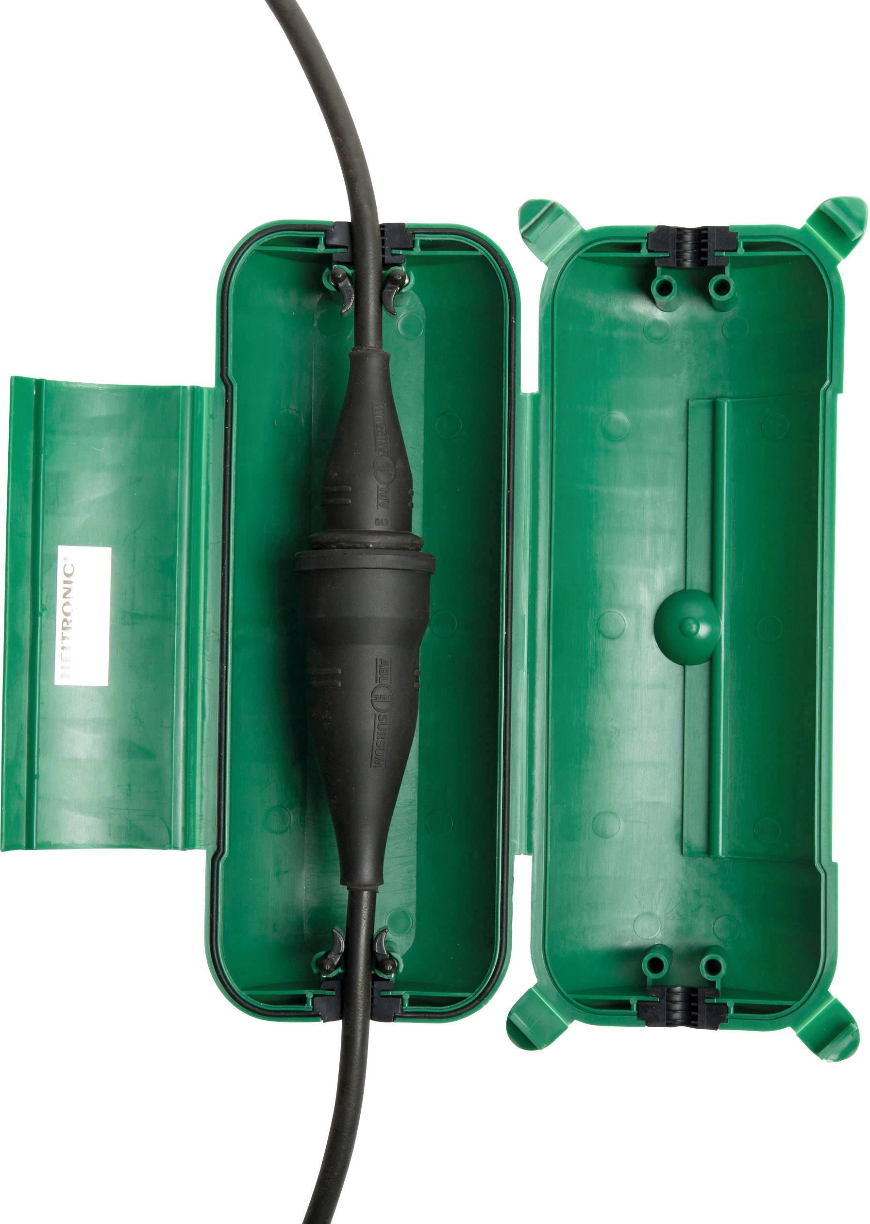 Kryt zásuvky Heitronic 21045, zelená