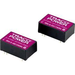 DC/DC měnič napětí do DPS TracoPower TEN 6-2413WIN-HI, 24 V/DC, 15 V/DC, 400 mA, 6 W, Počet výstupů 1 x