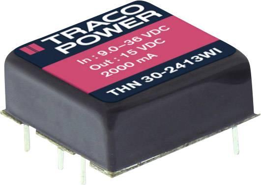 DC/DC měnič napětí do DPS TracoPower THN 30-2415WI, 24 V/DC, 24 V/DC, 1250 mA, 30 W, Počet výstupů 1 x