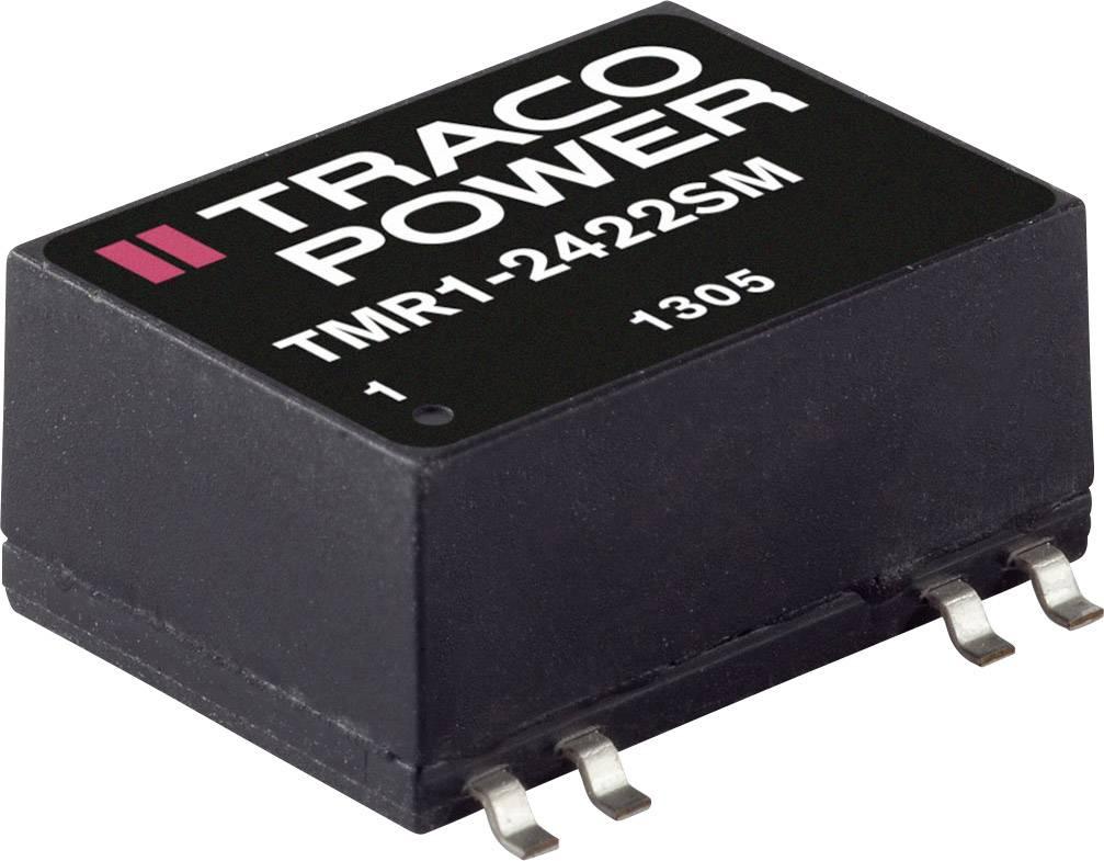 DC/DC měnič napětí, SMD TracoPower TMR 1-2423SM, 24 V/DC, 15 V/DC, -15 V/DC, 33 mA, 1 W, Počet výstupů 2 x