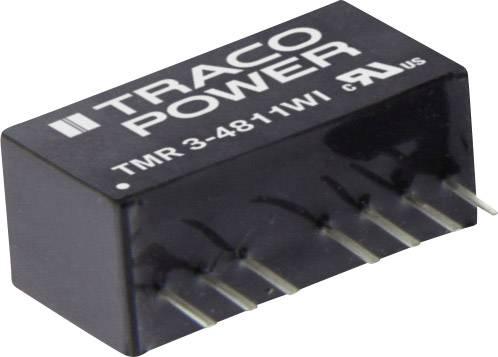 DC/DC měnič napětí do DPS TracoPower TMR 3-1211WI, 12 V/DC, 5 V/DC, 600 mA, 3 W, Počet výstupů 1 x
