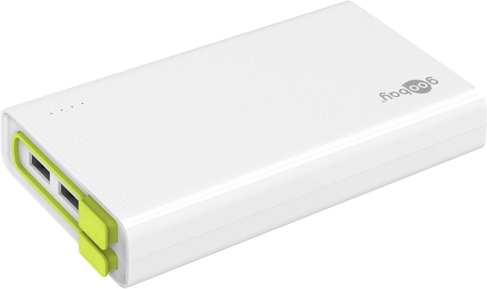 Powerbanka Goobay PowerBank 20.0, Li-Pol, 20000 mAh, bílá