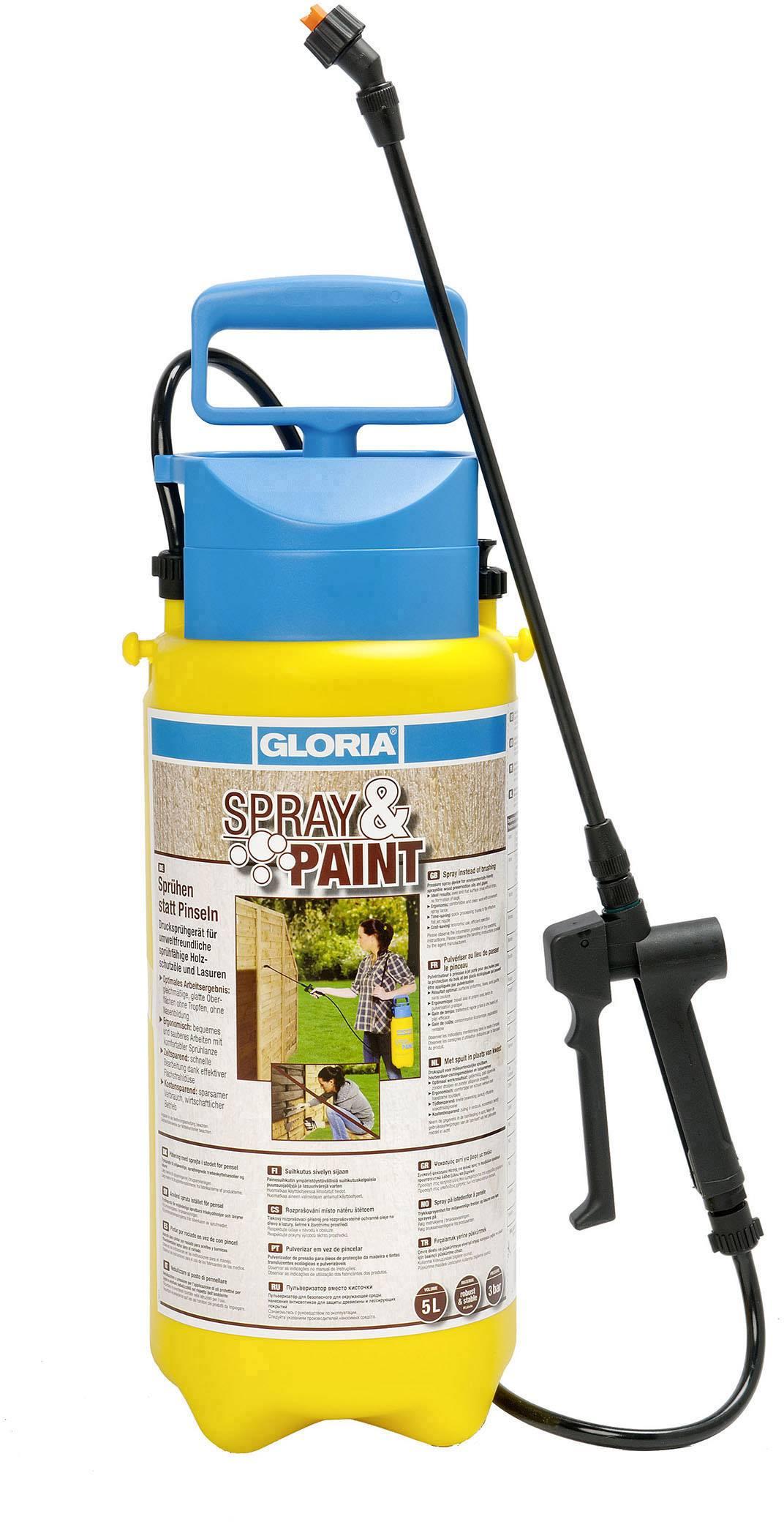 Tlakový rozprašovač Gloria Haus und Garten 000101.0000, Spray & Paint 5L, 5 l