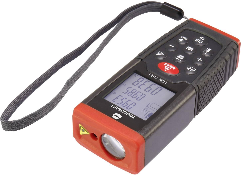 Laserový měřič vzdálenosti TOOLCRAFT LDM100H 1511649, rozsah měření (max.) 100 m