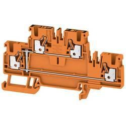 Dvojitá průchodková svorka Weidmüller A2T 2.5 VL OR, 1547670000, oranžová, 50 ks