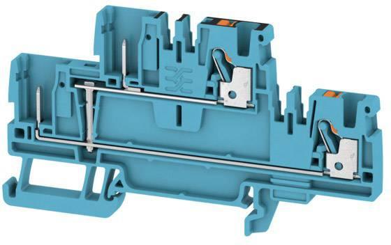 Dvojitá průchodková svorka Weidmüller APGTB 2.5 2T VL 4C/2 BL, 1548150000, modrá, 50 ks