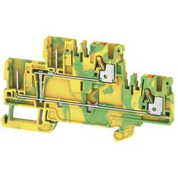 Dvojitá průchodková svorka Weidmüller APGTB 2.5 2T PE 4C/2, 1548160000, zelená, žlutá, 50 ks