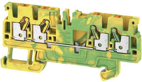 Svorka ochranného vodiče Weidmüller A4C 2.5 PE, 1521540000, zelenožlutá, 50 ks