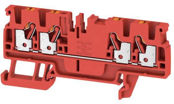 Průchodková svorka Weidmüller A4C 2.5 RD, 1521710000, červená, 100 ks