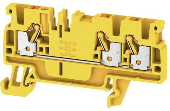 Průchodková svorka Weidmüller A3C 2.5 YL, 1521840000, žlutá, 100 ks