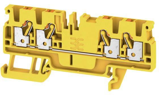 Průchodková svorka Weidmüller A4C 2.5 YL, 1521730000, žlutá, 100 ks