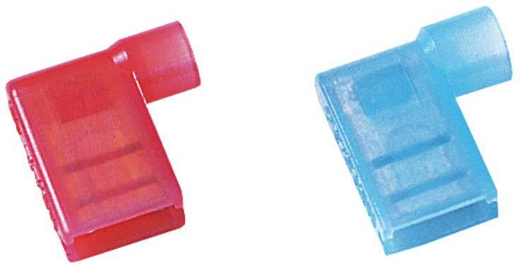 Faston zásuvka Weidmüller 1491970000 6.3 mm x 0.8 mm, 90 °, plná izolace, modrá, 100 ks
