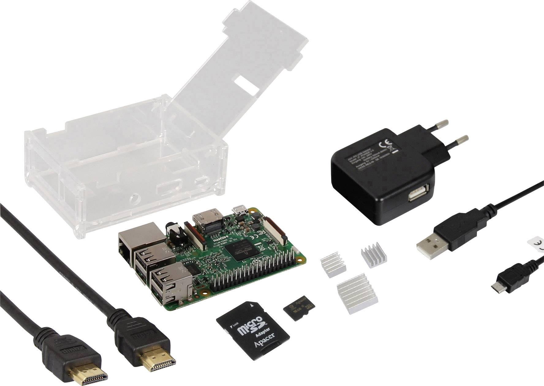 Startovní sada pro Raspberry Pi® 3 Model B, 1 GB, Linux, OS Noobs