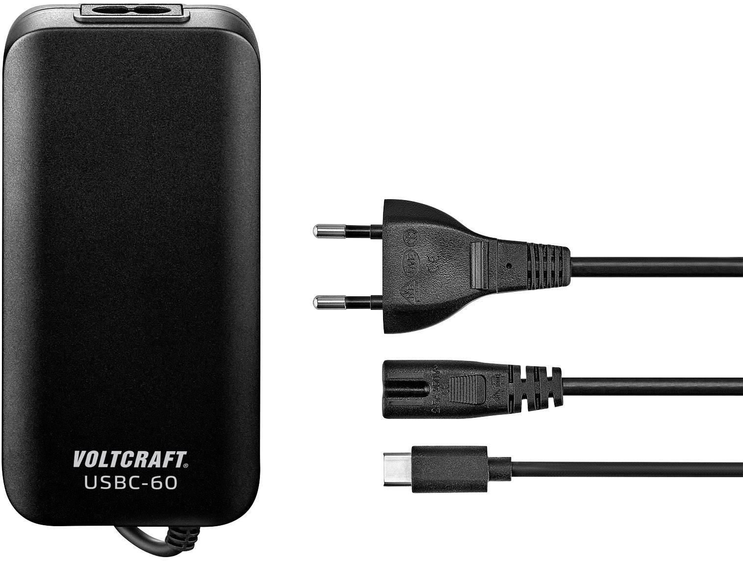 Napájecí adaptér k notebooku VOLTCRAFT USBC-60, 3 A, 1 x , černá