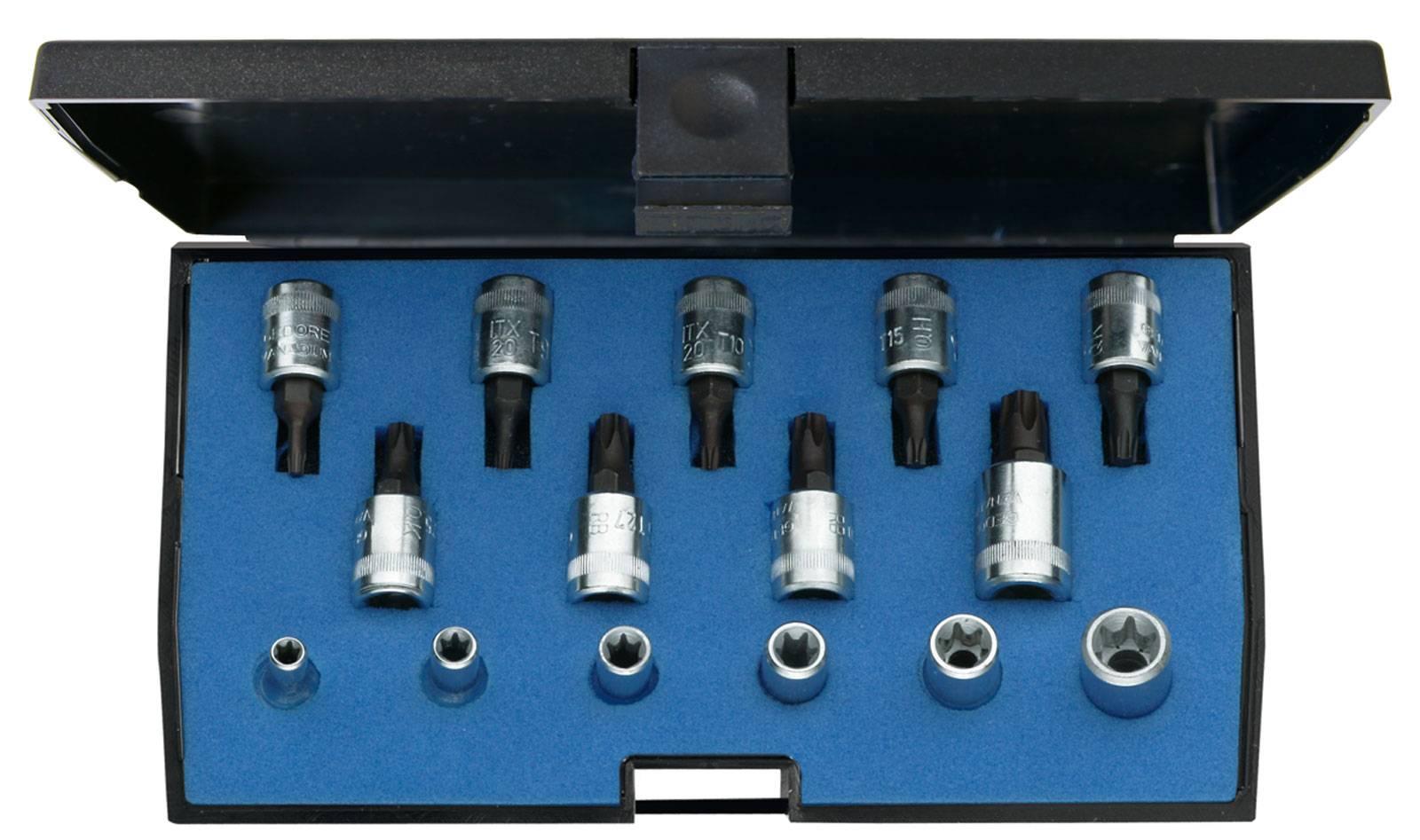 """Sada nástrčných klíčů a bitů, TORX, vnější TORX Gedore 1815628, 1/4"""" (6,3 mm), 15dílná"""