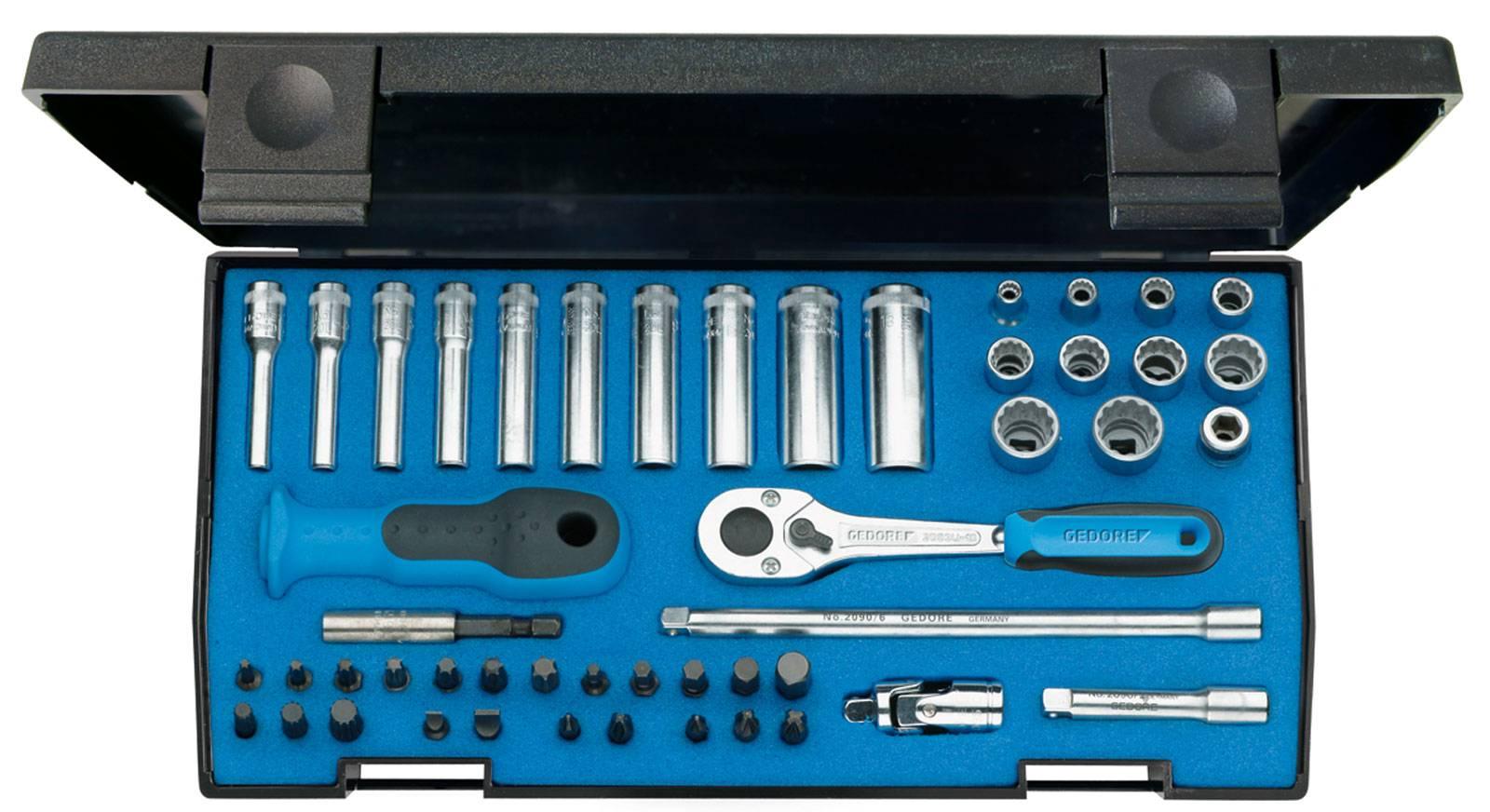 """Súprava nástrčných kľúčov Gedore 1815687, 1/4"""" (6,3 mm), 49-dielna"""