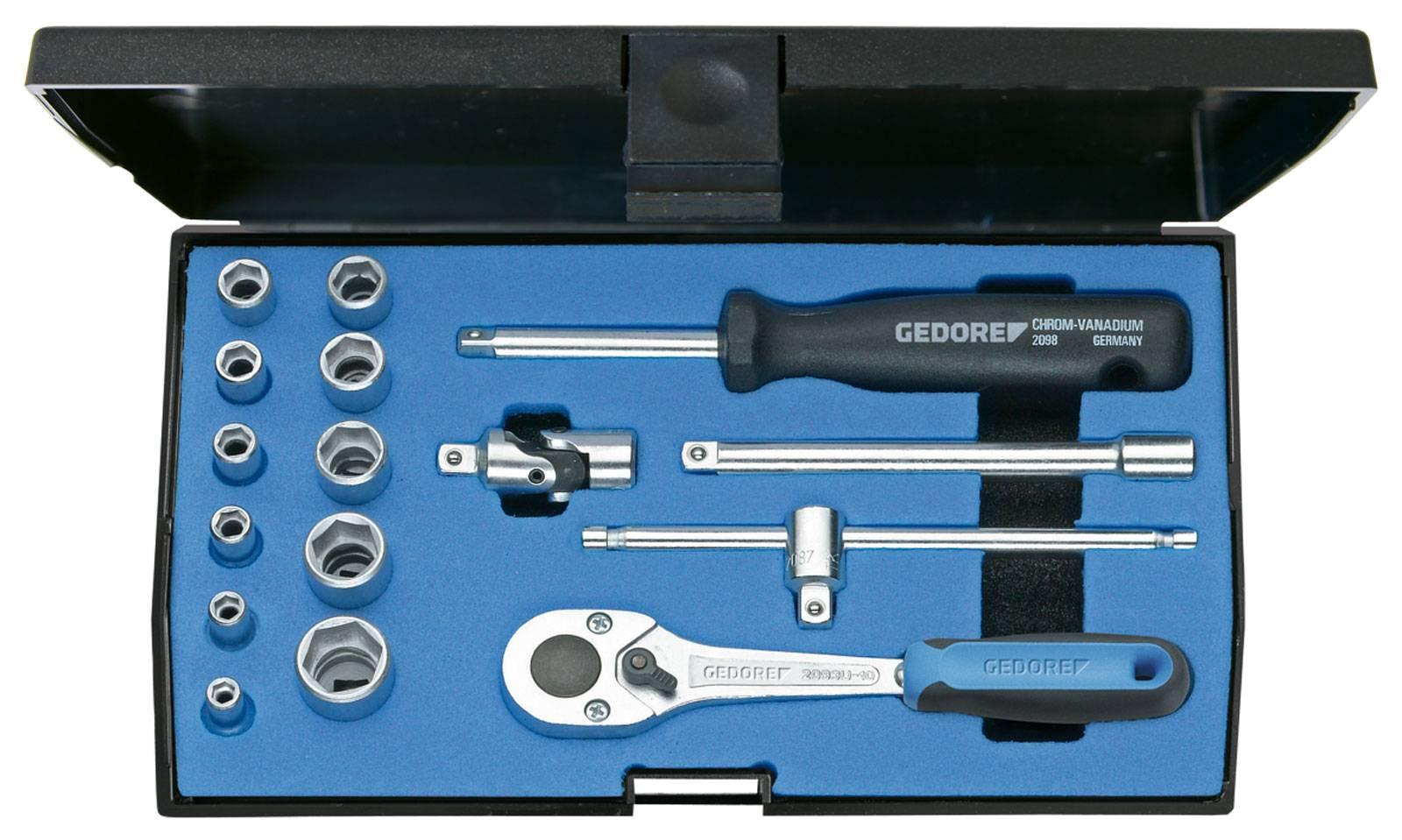 """Súprava nástrčných kľúčov Gedore 1/4"""" (6,3 mm), 16-dielna"""