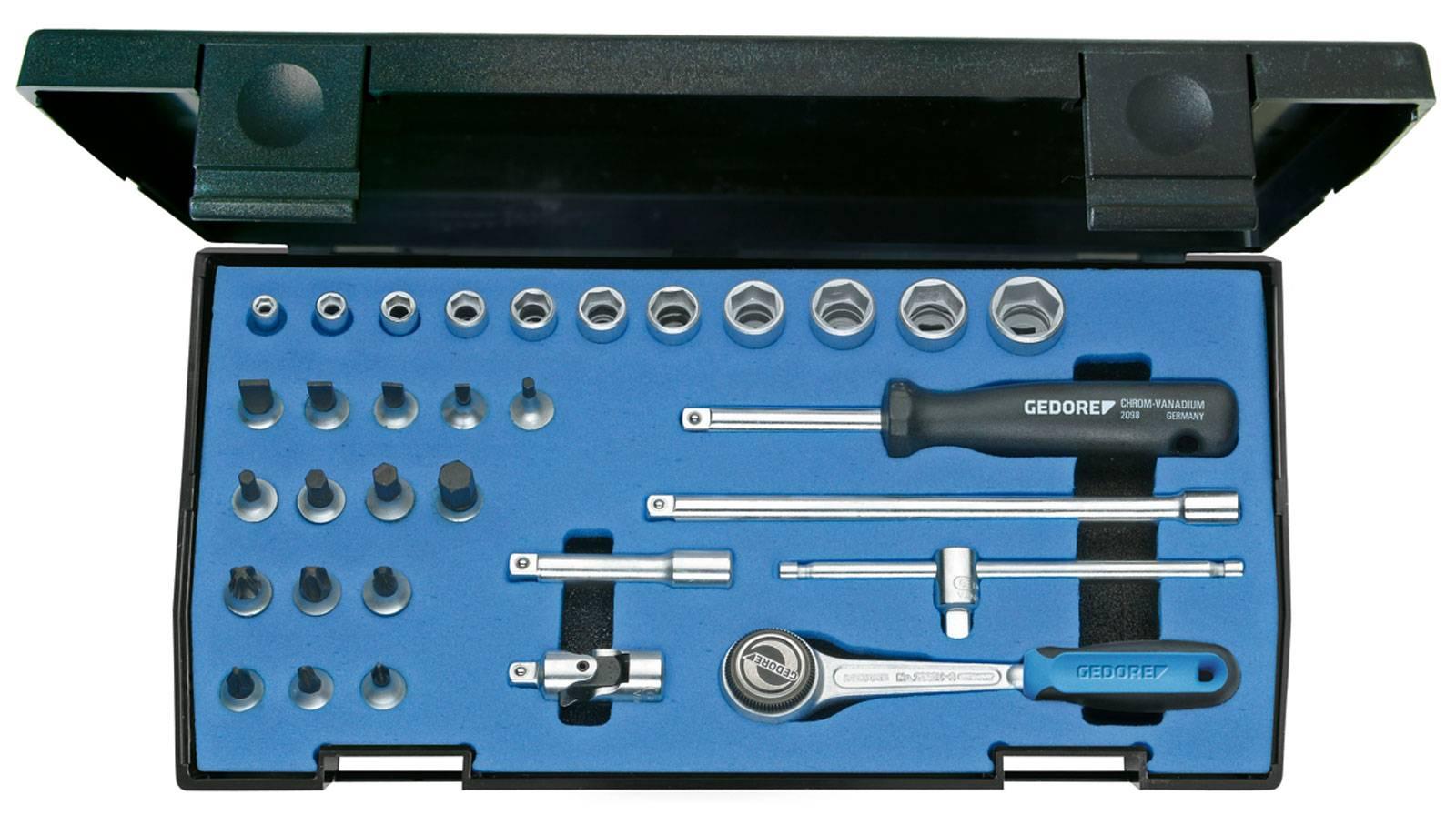 """Sada nástrčných klíčů Gedore 6174150, 1/4"""" (6,3 mm), 32dílná"""