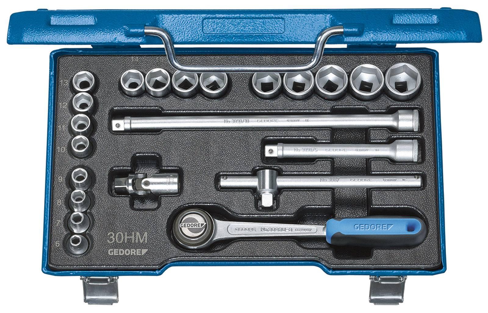"""Súprava nástrčných kľúčov Gedore 6238300, 3/8"""" (10 mm), 22-dielna"""