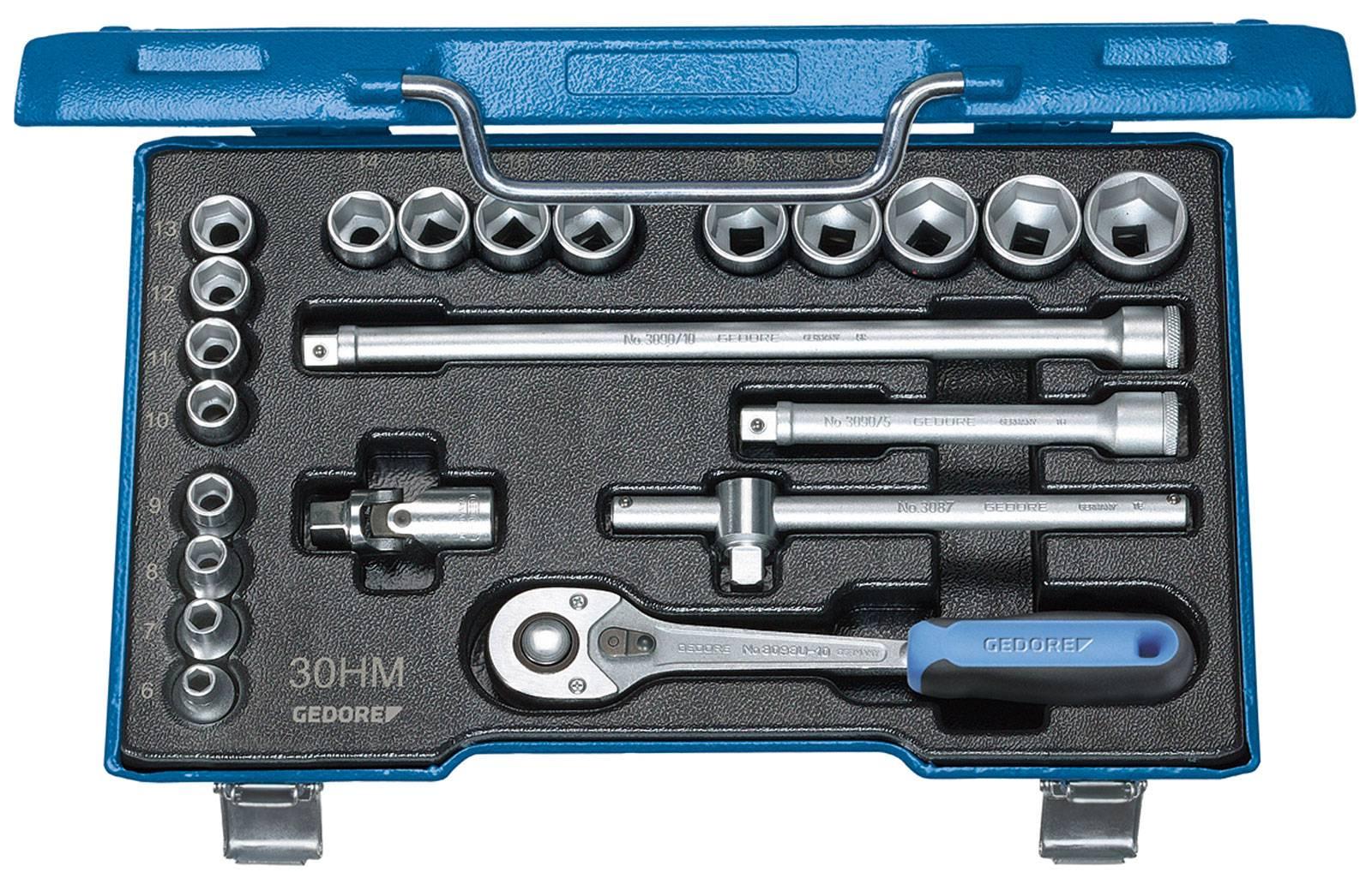 """Súprava nástrčných kľúčov Gedore 6235470, 3/8"""" (10 mm), 22-dielna"""