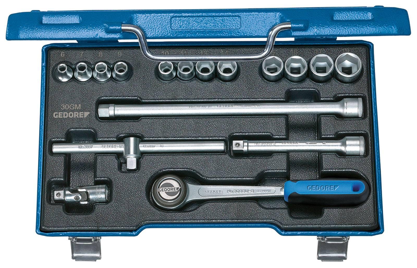 """Súprava nástrčných kľúčov Gedore 6235980, 3/8"""" (10 mm), 17-dielna"""