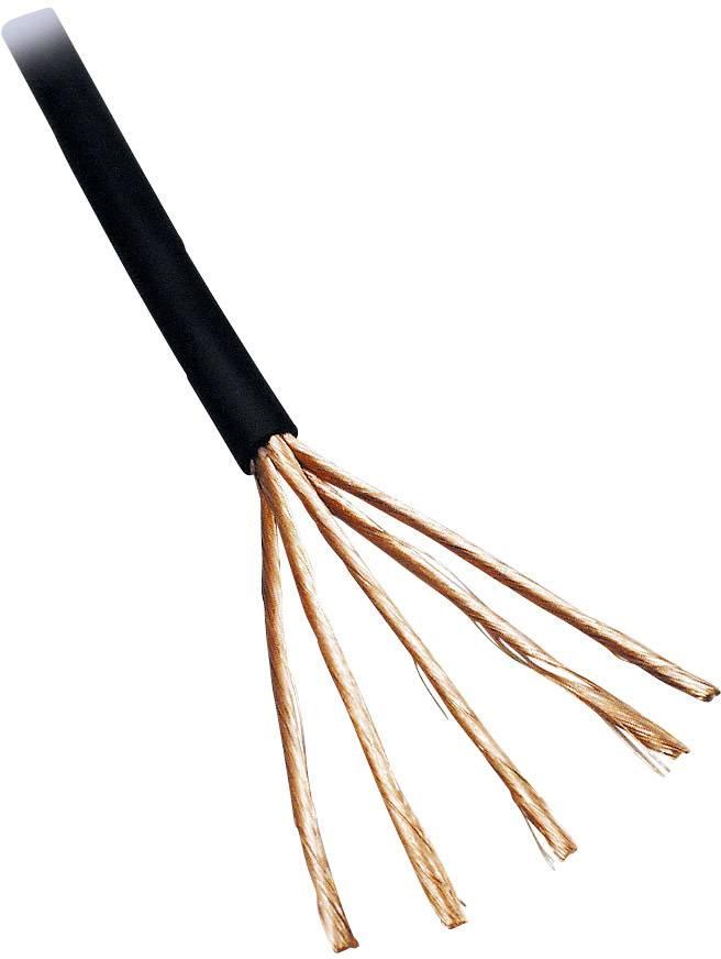 Audio kábel BKL Electronic 1509003/10, 2 x 0.14 mm², čierna, 10 m