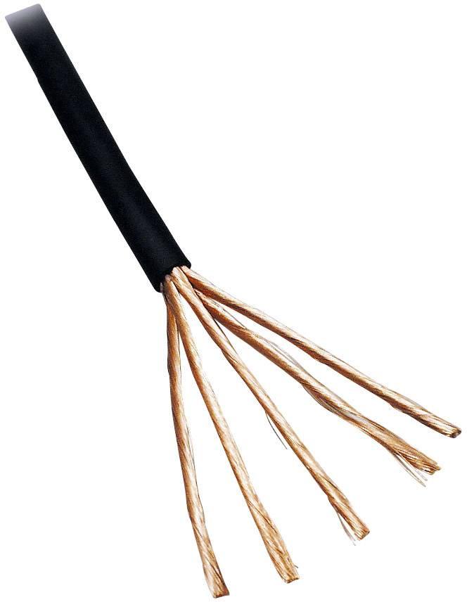 Audio kabel BKL Electronic 1106007/10, 4 x 0.10 mm², černá, 10 m