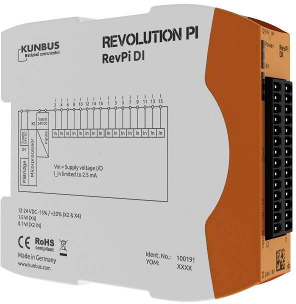Rozšiřující modul pro PLC SPS Kunbus RevPi DI PR100195, 24 V