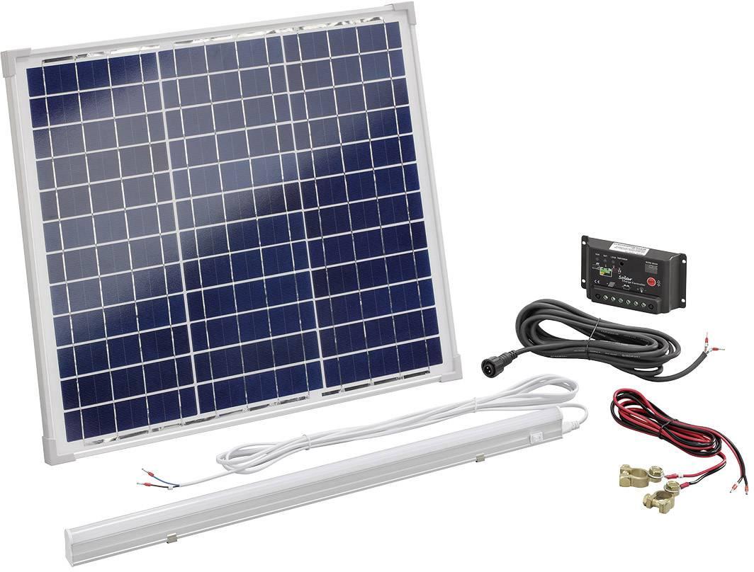 Solárna sada Esotec 120006, 30 Wp, vr. nabíjacieho regulátora, s LED