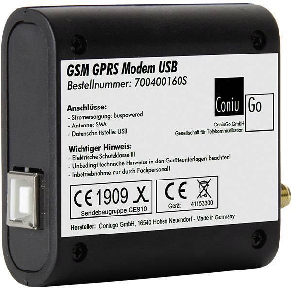 GSM modem ConiuGo 700400160S (USB-Version), 9 V/DC, 12 V/DC, 24 V/DC, 35 V/DC