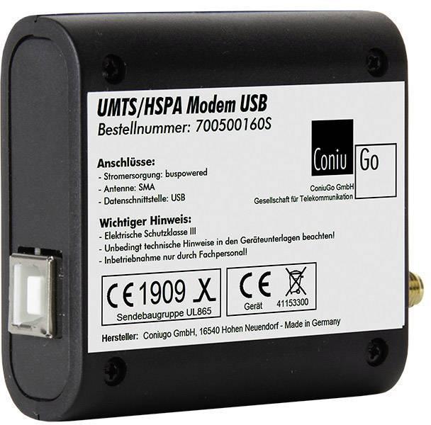 UMTS modem ConiuGo 700500160S (USB-Version), 9 V/DC, 12 V/DC, 24 V/DC, 35 V/DC