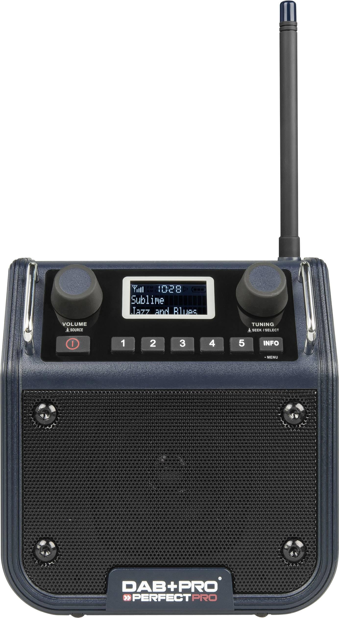 DAB+, FM outdoorové rádio PerfectPro DPRO, tmavo modrá