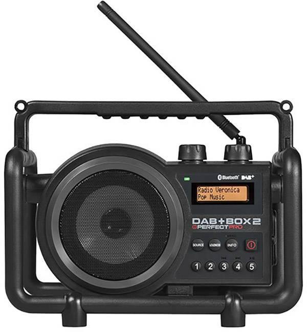 Outdoorové rádio PerfectPro DAB+ Box 2, AUX, Bluetooth, DAB+, UKW, čierna
